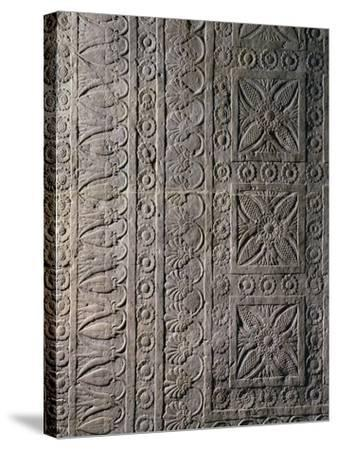 Relief from Ashurbanipal's Palace in Nineveh, Iraq--Stretched Canvas Print