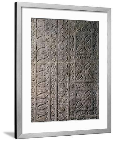 Relief from Ashurbanipal's Palace in Nineveh, Iraq--Framed Giclee Print
