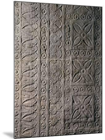 Relief from Ashurbanipal's Palace in Nineveh, Iraq--Mounted Giclee Print