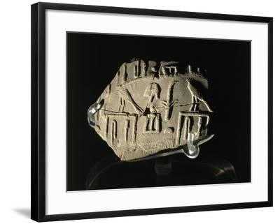 Ancient Egyptian Seal Imprint with Inscription of King Peribsen M of Clay--Framed Giclee Print
