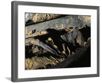 Close-Up of a Decomposed Mummy, Museo Archeologico Nazionale, Florence, Tuscany, Italy--Framed Giclee Print
