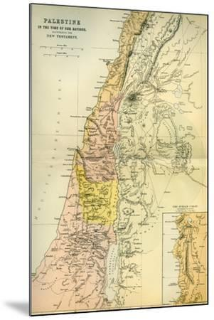 Map of Palestine Circa 1st Century A.D. from the Imperial Bible Dictionary, Published 1889--Mounted Giclee Print