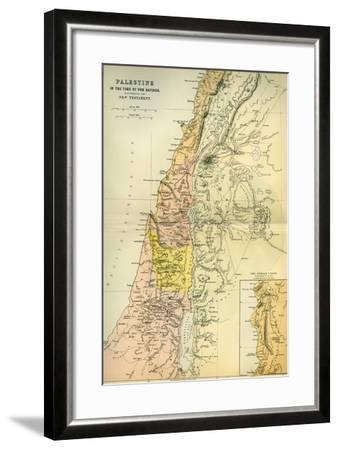 Map of Palestine Circa 1st Century A.D. from the Imperial Bible Dictionary, Published 1889--Framed Giclee Print