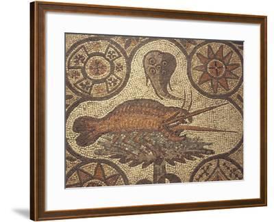 Close-Up of a Lobster Design in Mosaic, Aquileia, Friuli-Venezia Giulia, Italy--Framed Giclee Print