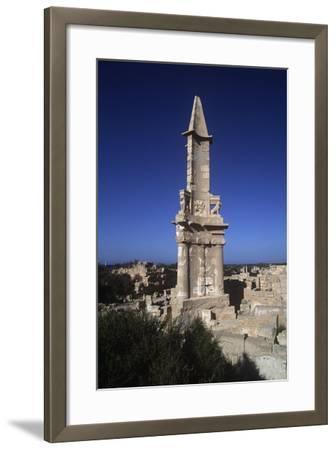 Libya, Sabratha, Historical Tripolitania, Punic Tomb--Framed Giclee Print