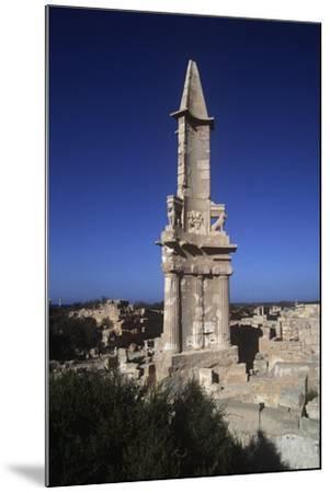 Libya, Sabratha, Historical Tripolitania, Punic Tomb--Mounted Giclee Print