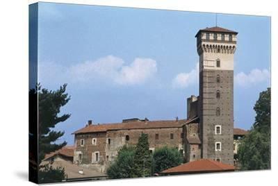 Italy, Piedmont Region, Castle of Rovasenda--Stretched Canvas Print