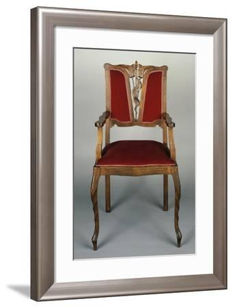 Art Nouveau Style Armchair, Carved Walnut, Italy--Framed Giclee Print