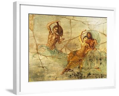 Fresco Depicting Poseidon and Amphitrite, from Pompei, Italy--Framed Giclee Print