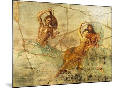 Fresco Depicting Poseidon and Amphitrite, from Pompei, Italy--Mounted Giclee Print
