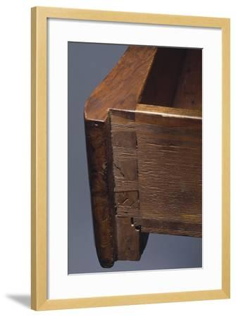 Louis XV Style Walnut Genoese Diplomat Writing Desk, Italy, Detail of Drawer--Framed Giclee Print