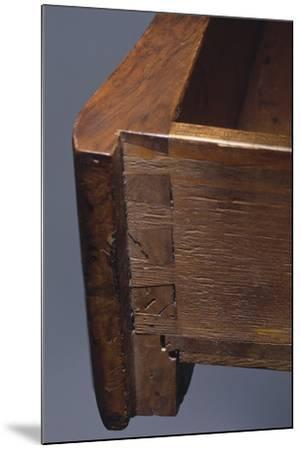 Louis XV Style Walnut Genoese Diplomat Writing Desk, Italy, Detail of Drawer--Mounted Giclee Print