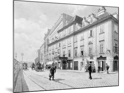 Austria, Vienna, Theatre on Wien River--Mounted Giclee Print