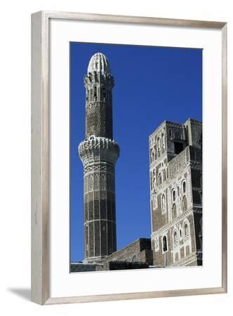 Az-Zumur Mosque, Minaret, Sana'A, Yemen--Framed Giclee Print