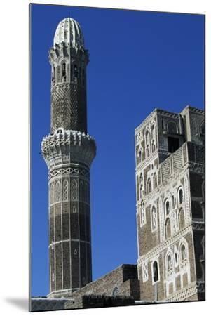 Az-Zumur Mosque, Minaret, Sana'A, Yemen--Mounted Giclee Print