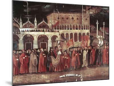 Caterina Cornaro Procession in Piazza San Marco, Venice, Italy, 1489--Mounted Giclee Print