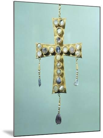 Votive Cross in Gold and Precious Stones--Mounted Giclee Print