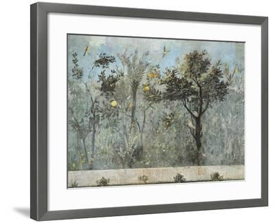 Fresco Depicting Garden with Fruit Trees and Birds, from Rome, Triclinium of House of Livia--Framed Giclee Print