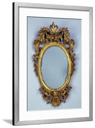 Mirror, Carved and Gilded Wood, Italy--Framed Giclee Print