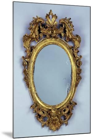 Mirror, Carved and Gilded Wood, Italy--Mounted Giclee Print