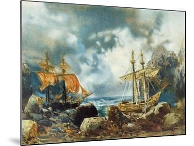 Germany, Bayreuth, the Flying Dutchman 1901--Mounted Giclee Print