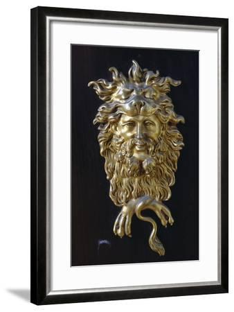 Bronze Mask, Detail from Napoleon III Style Piece of Furniture with Imitation Boulle Inlays, France--Framed Giclee Print