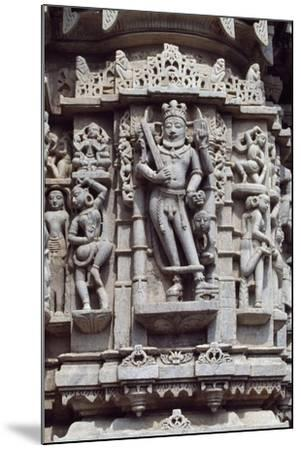 Relief from Chaumukha Jain Temple Dating Back to 1439, Near Ranakpur, Rajasthan, India--Mounted Giclee Print