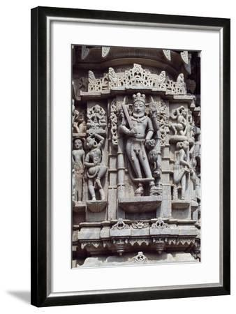 Relief from Chaumukha Jain Temple Dating Back to 1439, Near Ranakpur, Rajasthan, India--Framed Giclee Print