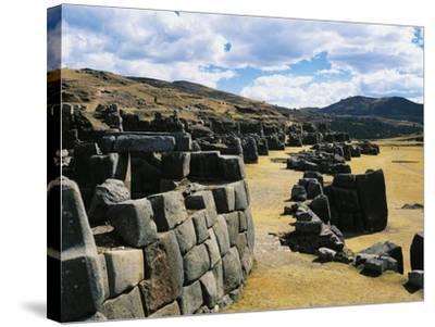 Peru, Cuzco, Inca Archaeological Site, Sacsahuaman Fortress--Stretched Canvas Print