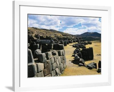 Peru, Cuzco, Inca Archaeological Site, Sacsahuaman Fortress--Framed Giclee Print