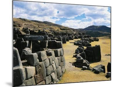 Peru, Cuzco, Inca Archaeological Site, Sacsahuaman Fortress--Mounted Giclee Print