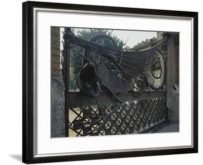 Wrought Iron Gates and Wire Mesh, 1884-1887--Framed Giclee Print