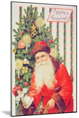 Santa Claus--Mounted Giclee Print