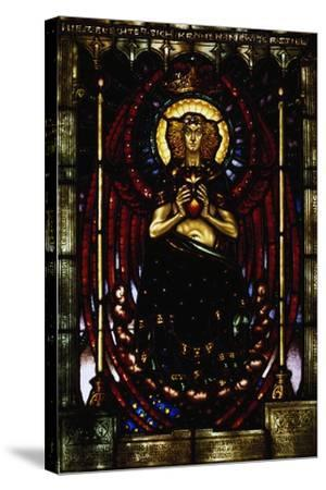 The Silent Guardian, Stained-Glass Window by Melchior Lechter, Germany, 1916--Stretched Canvas Print