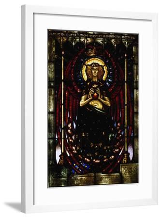 The Silent Guardian, Stained-Glass Window by Melchior Lechter, Germany, 1916--Framed Giclee Print