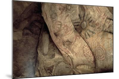 Cave Paintings Near Village of Catavina, Central Desert, Baja California Norte, Mexico--Mounted Giclee Print