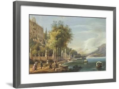 Italy, Como, View of Villa Carlotta and Lake--Framed Giclee Print