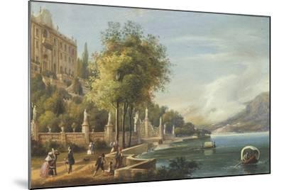 Italy, Como, View of Villa Carlotta and Lake--Mounted Giclee Print