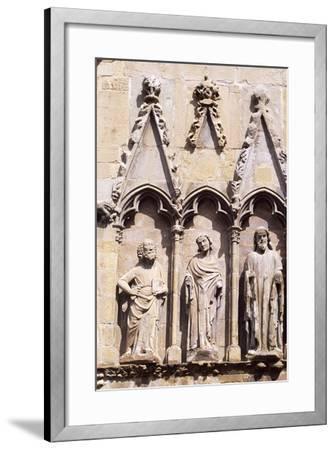 Spain, Navarre, Olite, Santa Maria La Real Church, Church Facade--Framed Giclee Print