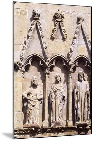 Spain, Navarre, Olite, Santa Maria La Real Church, Church Facade--Mounted Giclee Print