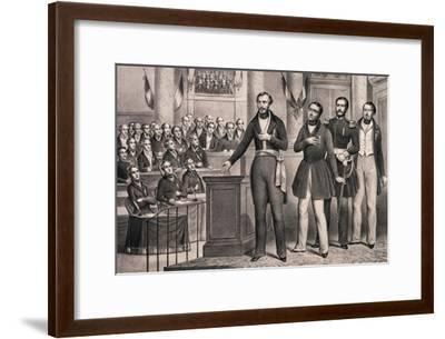 Louis-Napoleon Swears Allegiance to the Republic in December 1848--Framed Giclee Print