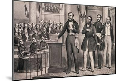 Louis-Napoleon Swears Allegiance to the Republic in December 1848--Mounted Giclee Print