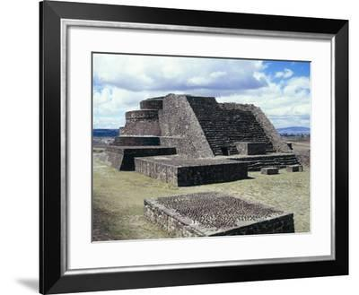 Mexico, Aztec Archaeological Site of Calixtlahuaca, Temple of Quetzalcoatl--Framed Giclee Print