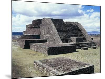 Mexico, Aztec Archaeological Site of Calixtlahuaca, Temple of Quetzalcoatl--Mounted Giclee Print