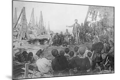 Stalin Haranguing Workers in Baku--Mounted Giclee Print