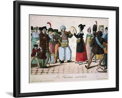 Street Musicians Performing in Streets of Paris, France--Framed Giclee Print