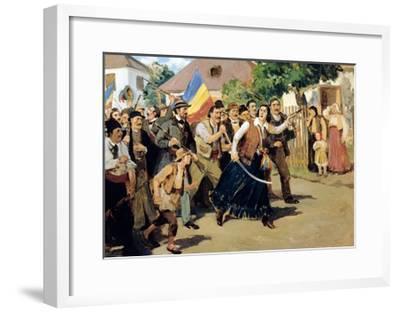 Stoica Ana Ipatescu Guiding Revolutionary Troops, June 1848, Romania--Framed Giclee Print