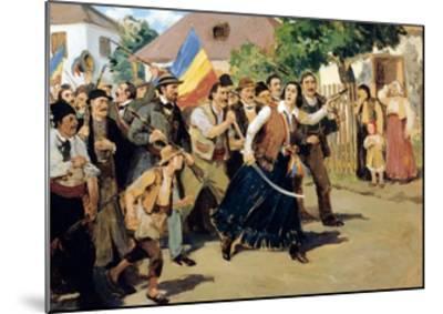 Stoica Ana Ipatescu Guiding Revolutionary Troops, June 1848, Romania--Mounted Giclee Print