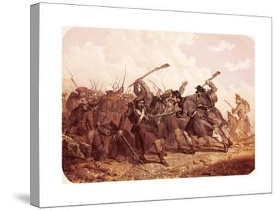 Clash Between Piedmont and Russian Troops, 1855--Stretched Canvas Print