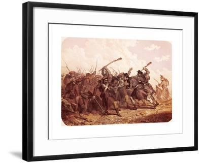 Clash Between Piedmont and Russian Troops, 1855--Framed Giclee Print